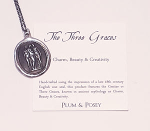 The Three Graces Wax Seal Pendant