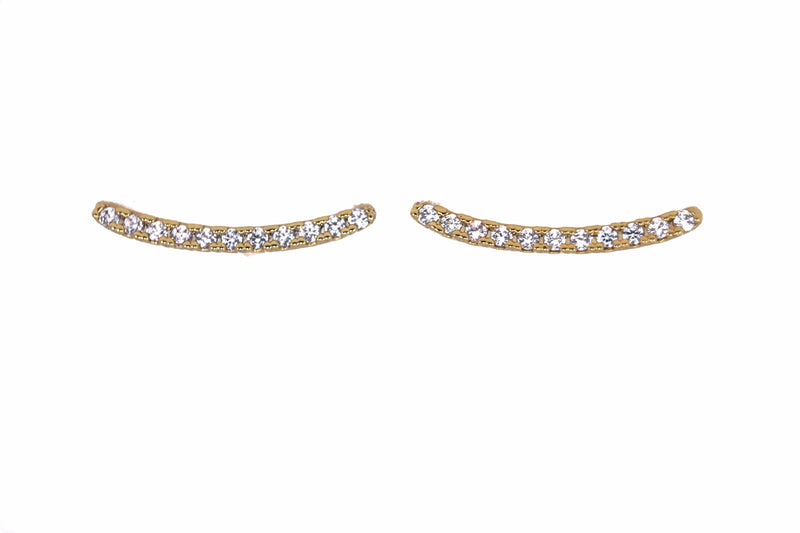 Sandi Curved Pave Earrings