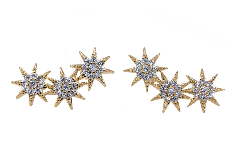 Stella Three Star Earrings