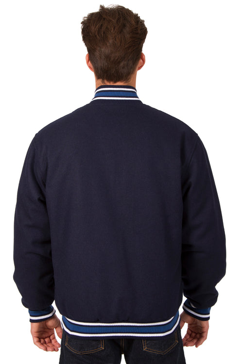 All-Wool Reversible Jacket in Navy