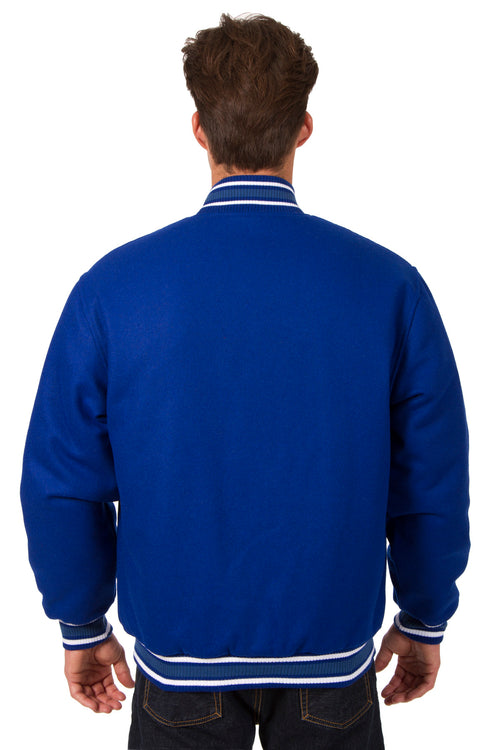 All-Wool Reversible Jacket in Royal