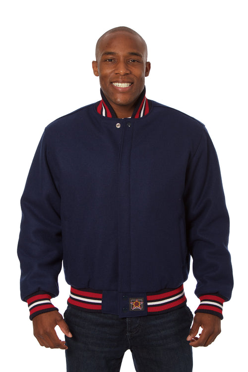 All-Wool Varsity Jacket in Navy
