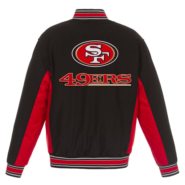 San Francisco 49ers Reversible Wool Jacket (Front and Back Logos)