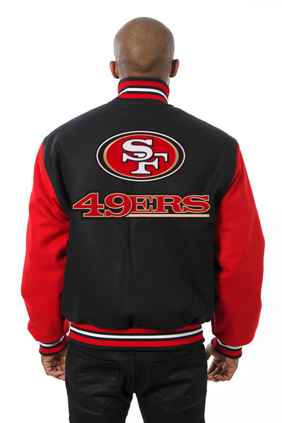 San Francisco 49ers Embroidered Wool Jacket