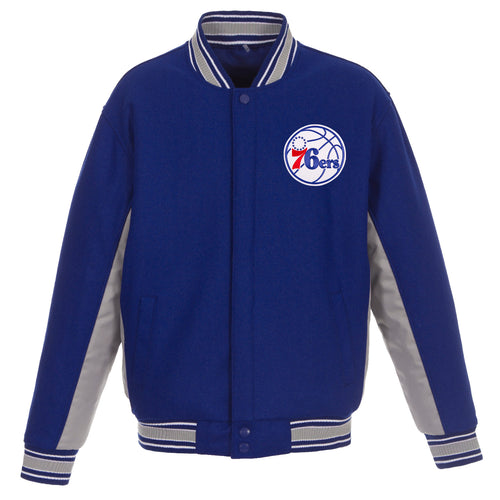 Philadelphia 76ers Reversible Wool Jacket (Front Logos Only)