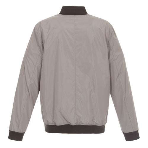 Gray-Charcoal Nylon Bomber