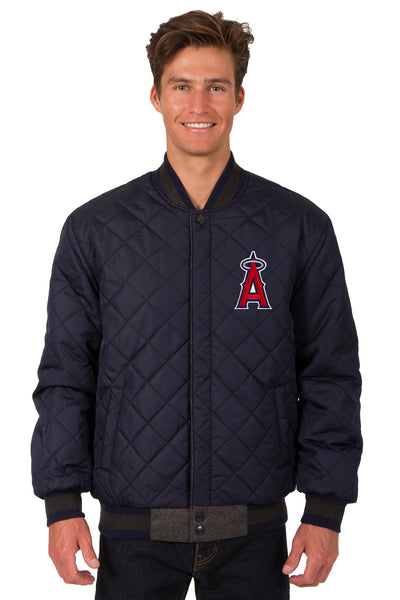 Los Angeles Angels Reversible Wool and Leather Jacket