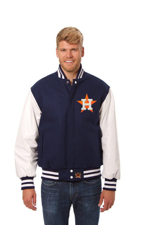 Houston Astros Wool and Leather Jacket
