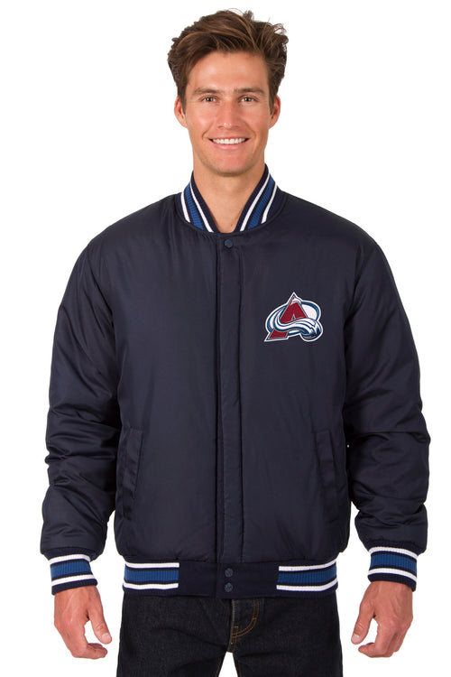 Colorado Avalanche All-Wool Reversible Jacket (Front Logos Only)