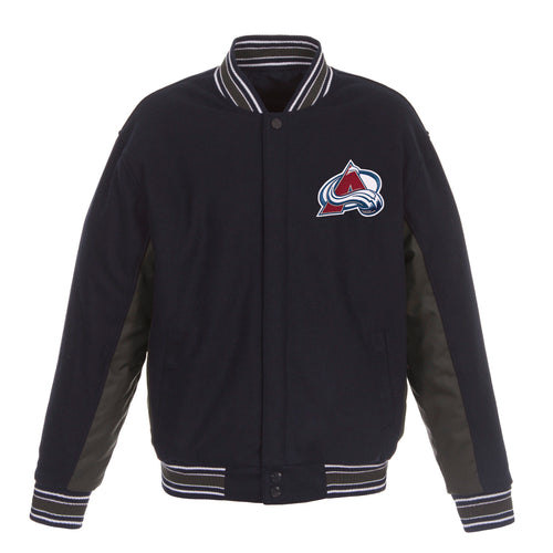 Colorado Avalanche Reversible Wool Jacket (Front Logos Only)