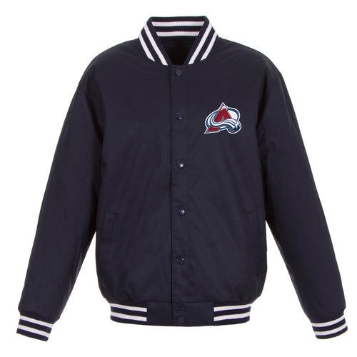 Colorado Avalanche Poly-Twill Jacket (Front Logo Only)