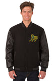 Oakland A's Reversible Wool and Leather Jacket
