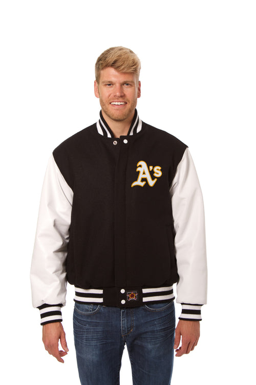 Oakland A's Domestic Wool and Leather Jacket