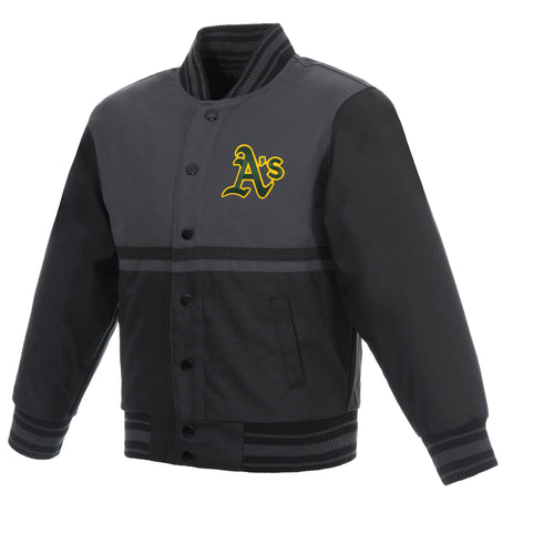Oakland A's Kids Poly-Twill Jacket
