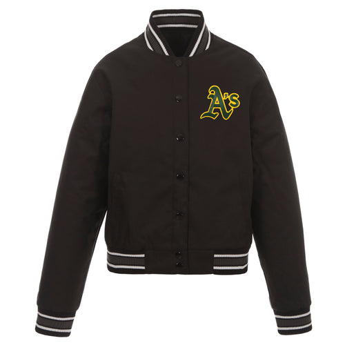 Oakland A's Ladies Poly-Twill Jacket