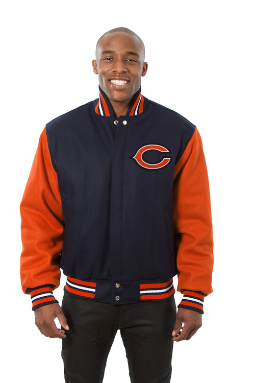 Chicago Bears Embroidered Wool Jacket