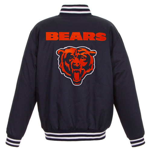Chicago Bears Poly-Twill Jacket (Front and Back Logo)