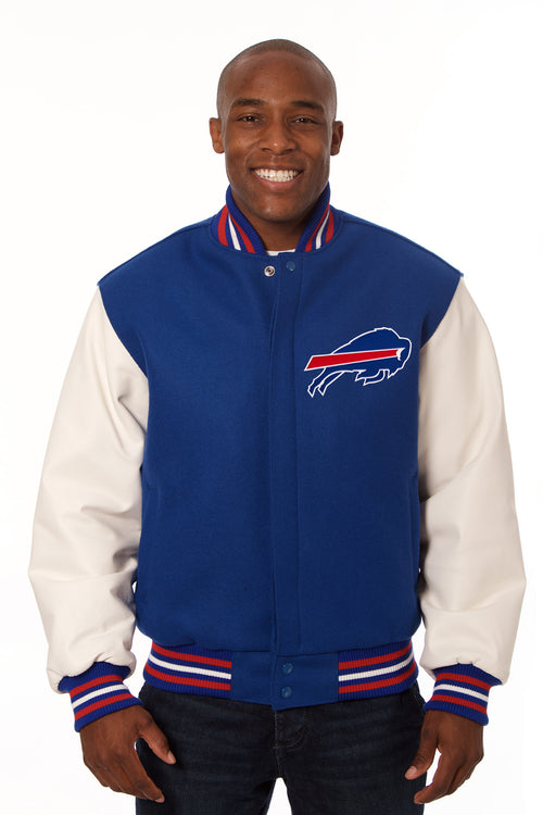 Buffalo Bills Embroidered Wool and Leather Jacket