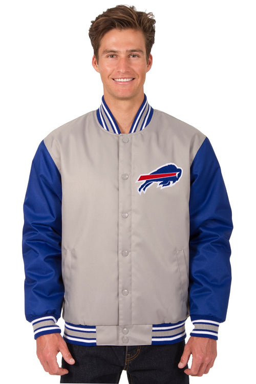 Buffalo Bills Poly-Twill Jacket (Front Logo Only)