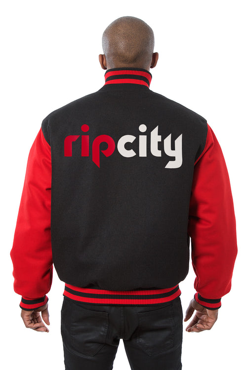 Portland Trail Blazers Embroidered Wool Jacket