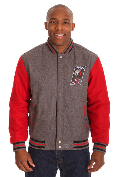 Portland Trail Blazers Two-Tone Reversible Wool Jacket