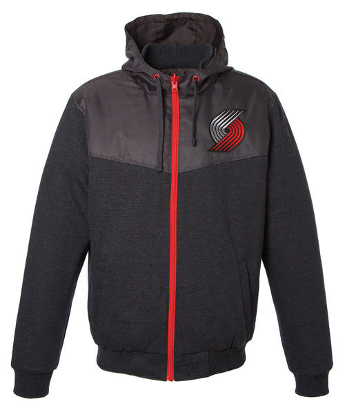 Portland Trail Blazers Reversible Fleece Hooded Jacket