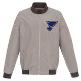 St. Louis Blues Nylon Bomber Jacket
