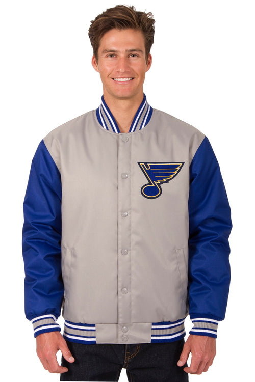St. Louis Blues Poly-Twill Jacket (Front and Back Logo)