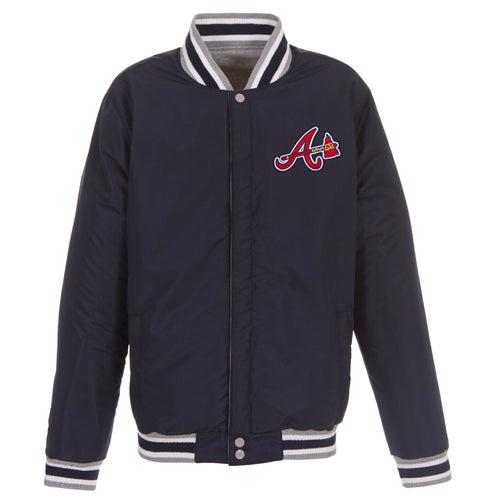 Atlanta Braves Reversible Fleece Jacket