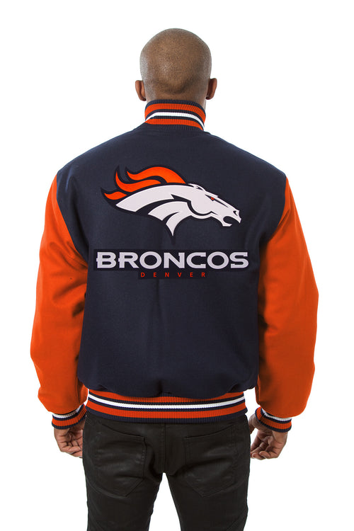 Denver Broncos Embroidered Wool Jacket
