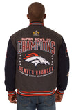 Denver Broncos 2016 Super Bowl Reversible Wool Jacket