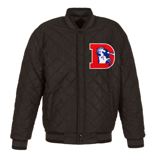 Denver Broncos Reversible Wool and Leather Jacket