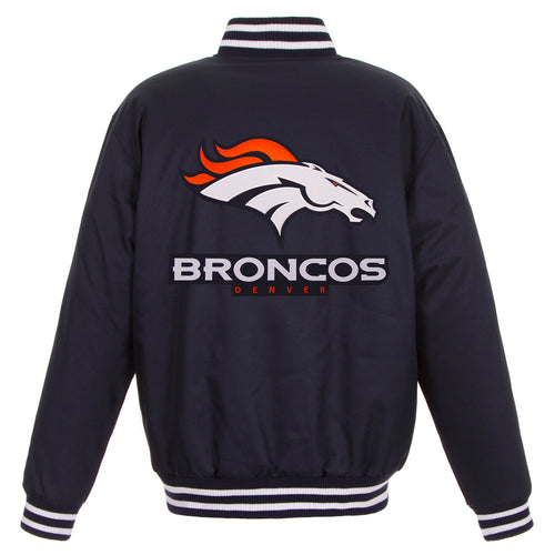 Denver Broncos Poly-Twill Jacket (Front and Back Logo)
