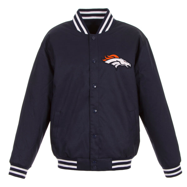 Denver Broncos Poly-Twill Jacket (Front Logo Only)