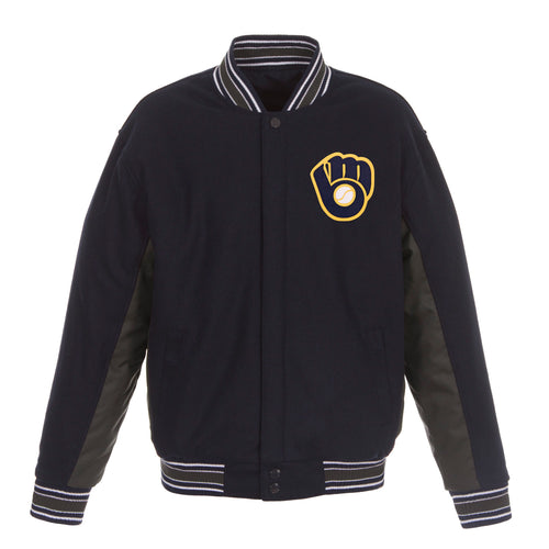 Milwaukee Brewers Reversible Wool Jacket