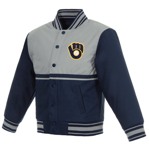 Milwaukee Brewers Kids Poly-Twill Jacket