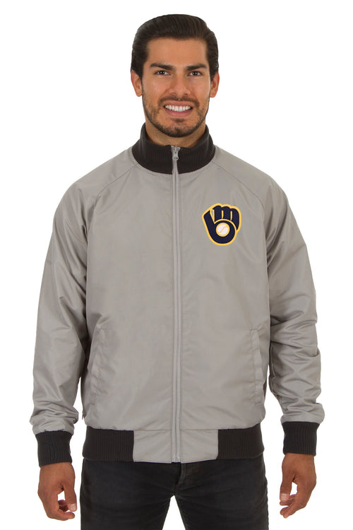 Milwaukee Brewers Reversible Polyester Track Jacket