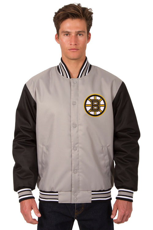 Boston Bruins Poly-Twill Jacket (Front and Back Logo)