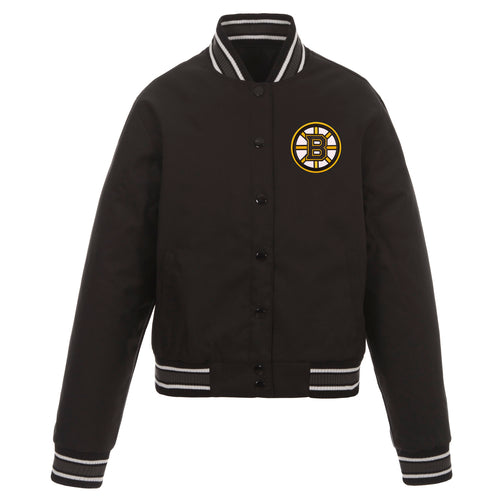 Boston Bruins Ladies Poly-Twill Jacket