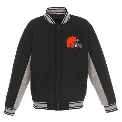 Cleveland Browns Reversible Wool Jacket (Front and Back Logos)