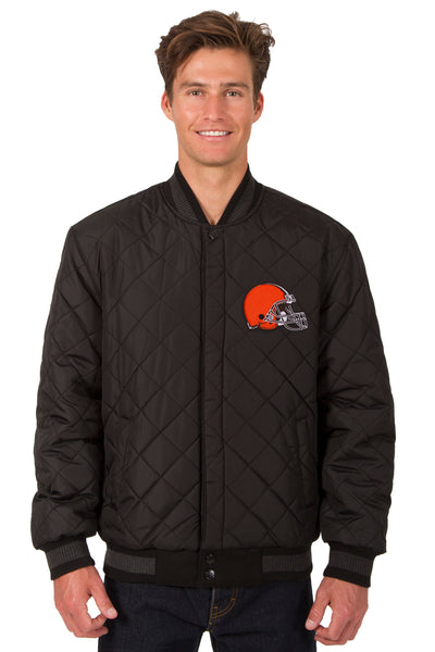Cleveland Browns Reversible Wool and Leather Jacket