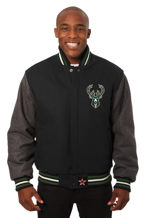 Milkwaukee Bucks Embroidered Wool Jacket
