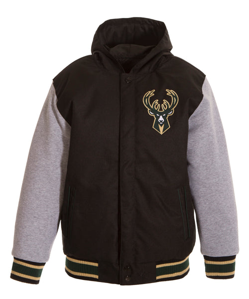 Milwaukee Bucks Kid's Reversible Poly-Twill Jacket