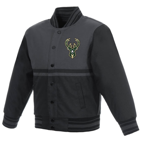 Milwaukee Bucks Kids Poly-Twill Jacket