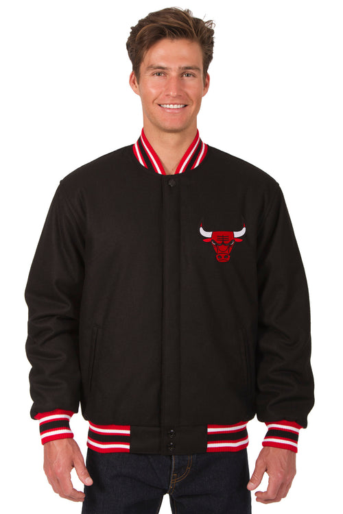 Chicago Bulls Reversible All-Wool Jacket (Front Logos Only)