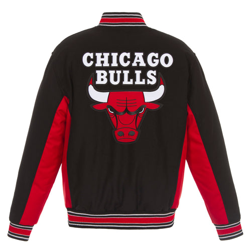 Chicago Bull Reversible Wool Jacket (Front and Back Logos)