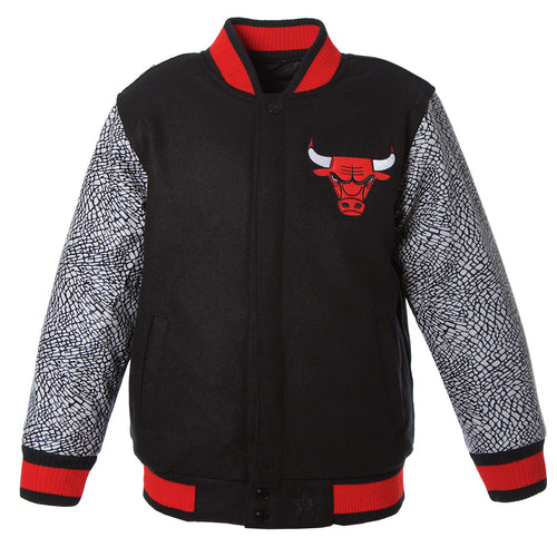 Chicago Bulls Kid's Reversible Melton Jacket