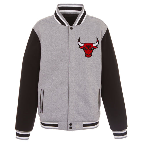 Chicago Bulls Reversible Fleece Jacket (Front and Back Logos)