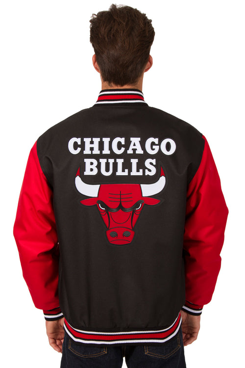Chicago Bulls Poly-Twill Jacket (Front and Back Logo)