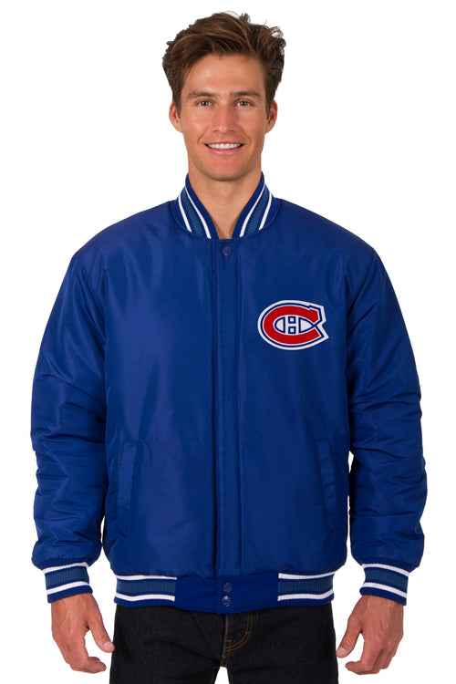 Montreal Canadiens All-Wool Reversible Jacket (Front Logos Only)